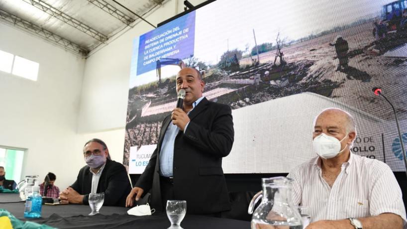Nación y Provincia inauguraron una obra que beneficiará a más de 1.000 familias productoras